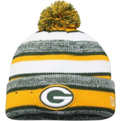 Green Bay Packers New Era Youth Sideline Sport Knit hat – Gold