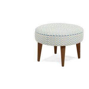 De Lulu voetenbank in geweven honingraat is de perfecte partner voor de Lulu ronde stoel uit dezelfde collectie.