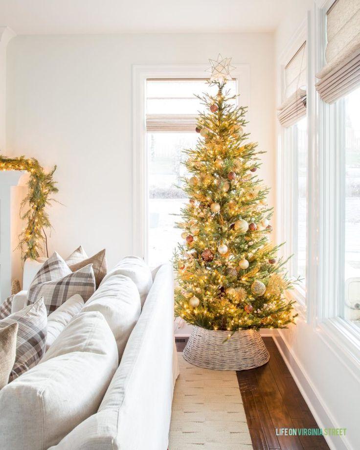 Our 2019 Christmas Home Tour Fake Christmas Trees Christmas Home Cool Christmas Trees