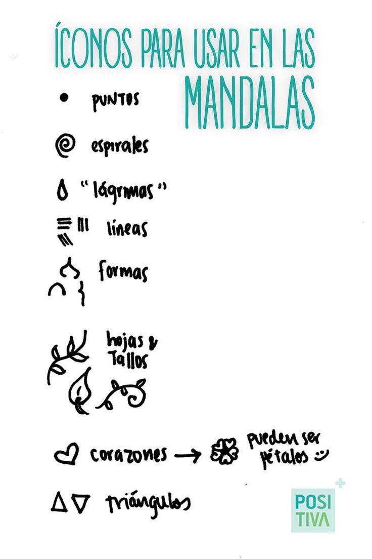 Algunos iconos que puedes usar para hacer tus mandalas!!!!