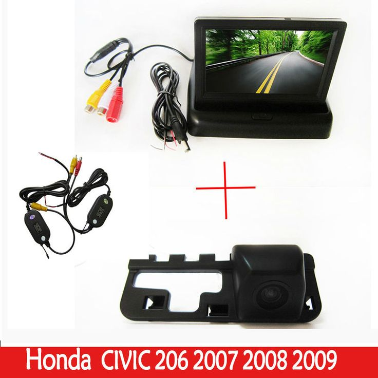 Wrieless Auto video  Rear View Camera Car Reverse HD Parking Camera with foldable Monitor FOR  Honda CIVIC 2006 2007 2008 2009