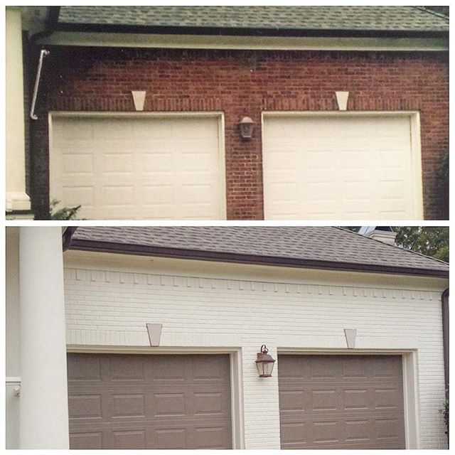 The Brick And Trim Are French Canvas Garage Doors And Shutters Are Fairview Taupe And The Porch