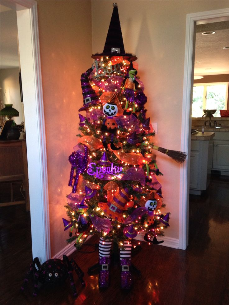 My Halloween tree! Trick or treaters love it!'