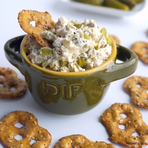 Dill Pickle Dip pretzels are the perfect dippers
