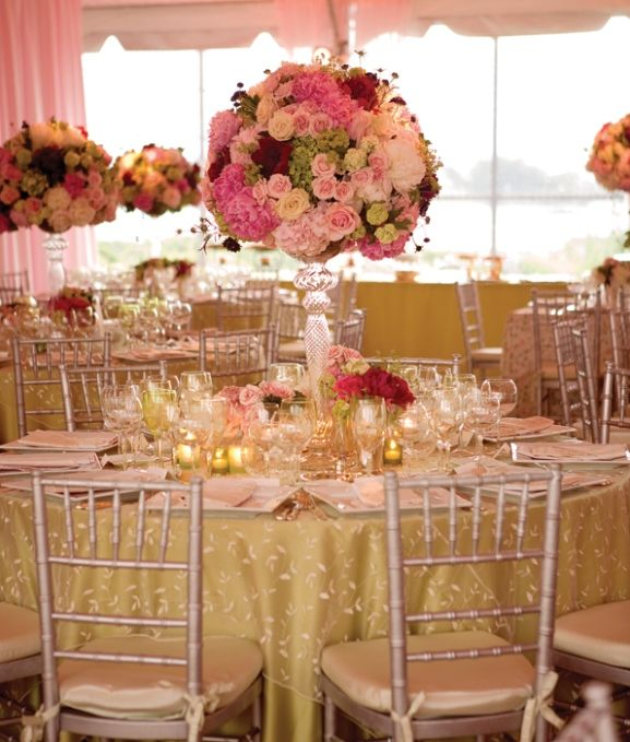 wedding tables round tables wedding reception with pink table decorations