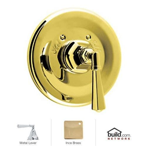 Rohl A4814LM Palladian Thermostatic Shower Valve Trim (Trim Only) with Metal (Grey) Lever Handle (Satin)