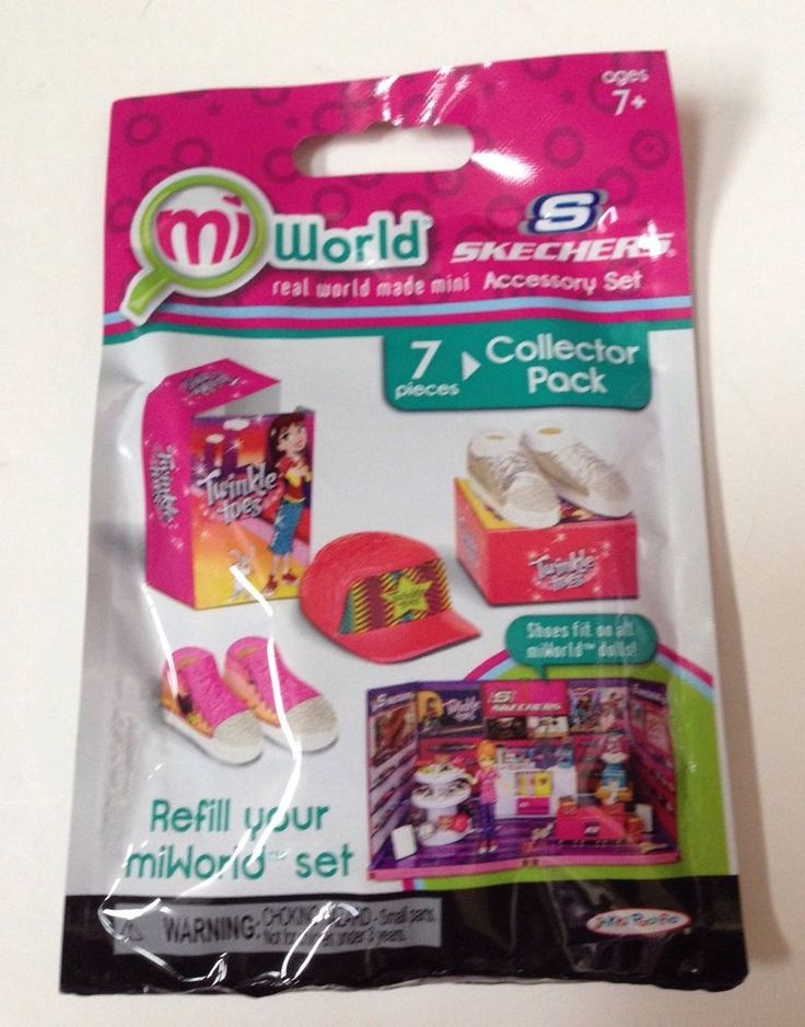 MiWorld Skechers Shoe Store Accessory Playset Refill Collector Pack New #JakksPacific