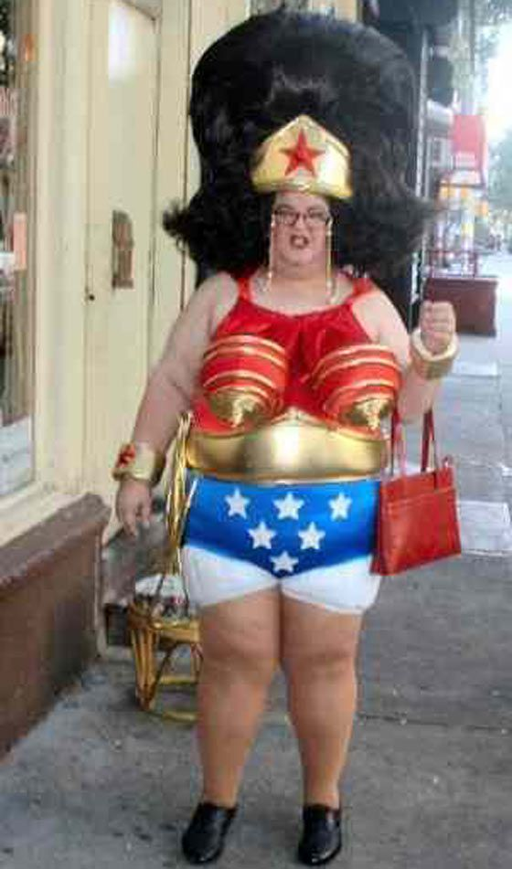 people of walmart in weird outfits yes this is at walmart old lady dresses up as a wonder woman and goes shopping at walmart - Halloween Costume For Fat People