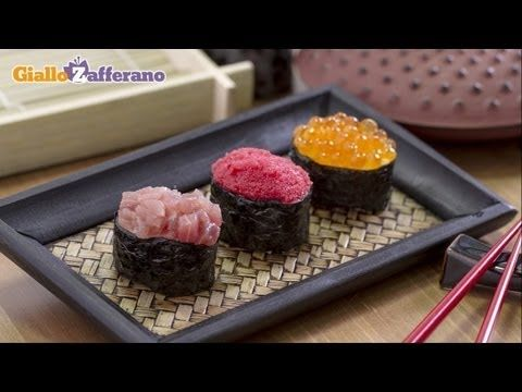 Gunka maki - come fare il sushi in casa, la ricetta di Giallozafferano - YouTube