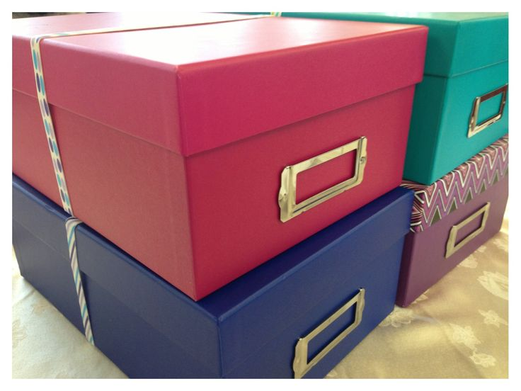 """Foster Kid Welcome Box - Double cool for us as each kid has a photo box as their """"special"""" box."""