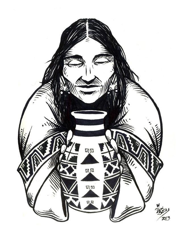 Serie Pueblos Originarios   Diaguita - DONSATA Ilustración y DiseñoDONSATA Ilustración y Diseño