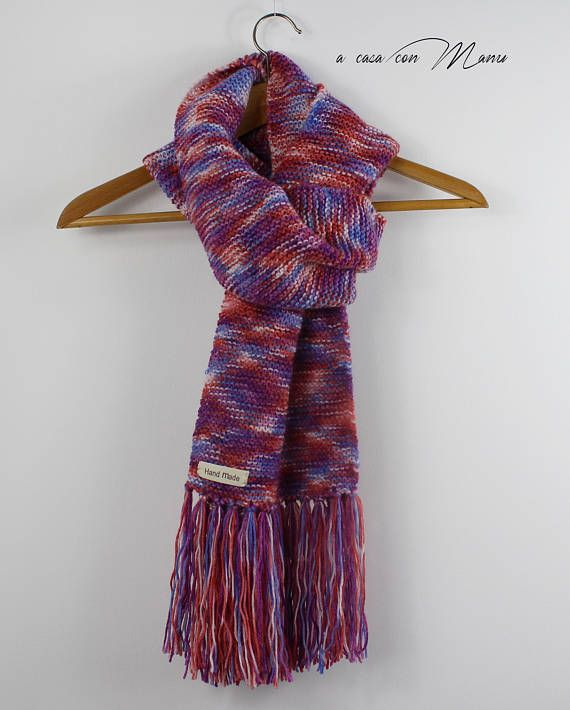 Sciarpa lana Sciarpa lunga lavorata a maglia sciarpa