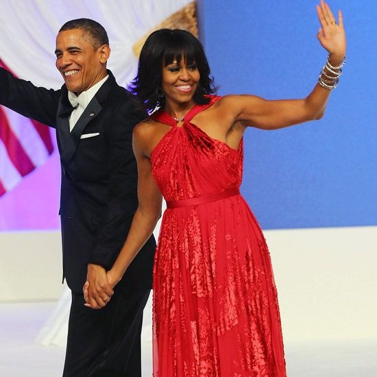 Michelle Obamas Second Inaugural Dress Goes On Display At