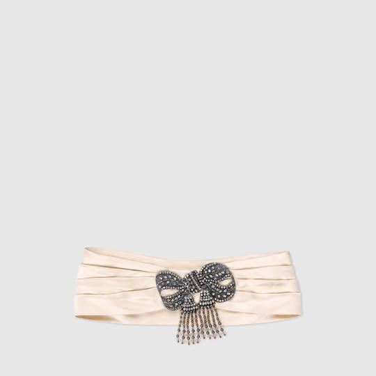 Gucci Fascia per capelli in seta con fiocco