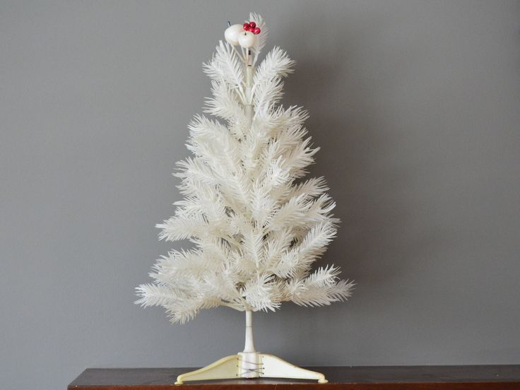 "Vintage Christmas Tree, White Plastic Branches and Base, 22"" tall circa 1960s by Trashtiques on Etsy https://www.etsy.com/ca/listing/569715005/vintage-christmas-tree-white-plastic"
