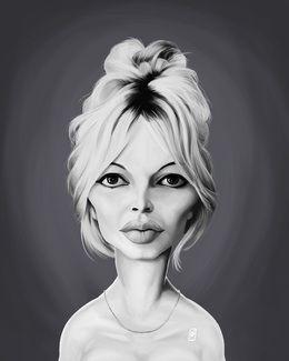 Brigitte Bardot by robart at zippi.co.uk art | decor | wall art | inspiration | caricature | home decor | idea | humor | gifts