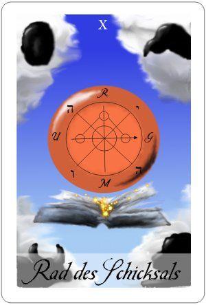 Tarotkarte des Tages Rad des Schicksals