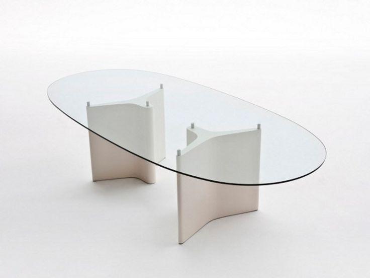 Tavolo ovale in vetro TEE by Segis design Bartoli Design