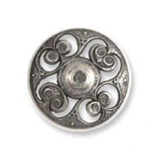 Impex Metal Filigree Buttons 20mm Antique Silver | Sewing | Buttons | Minerva Crafts