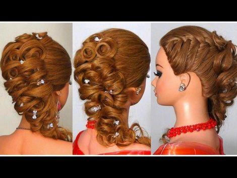 Вечерние прически на длинные волосы с плетением фото