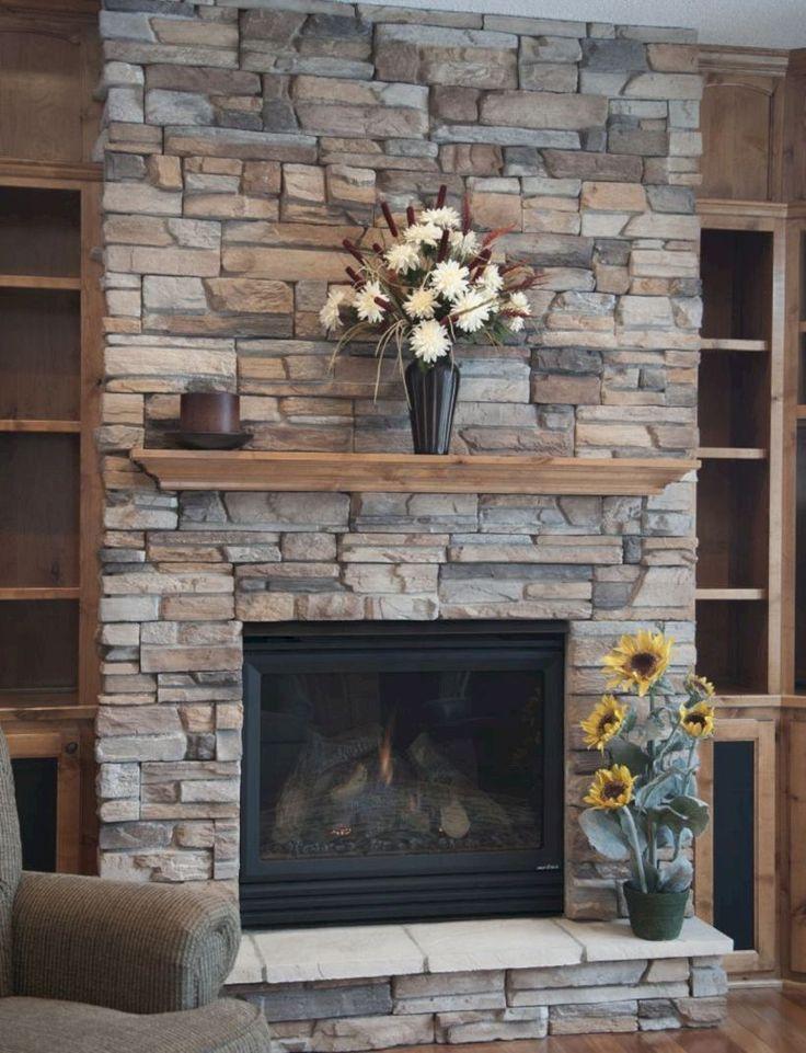 #farmhousedecorideas | Home fireplace, Fireplace redo, Rock fireplaces