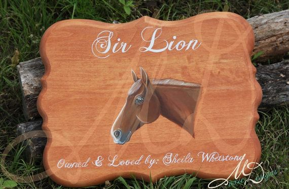 Custom Hand Painted Horse stall Sign by MoxieDesignsATX on Etsy