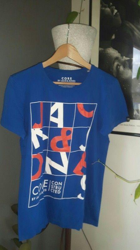 Tee-shirt jack and jones Bleu Taille 14 ans
