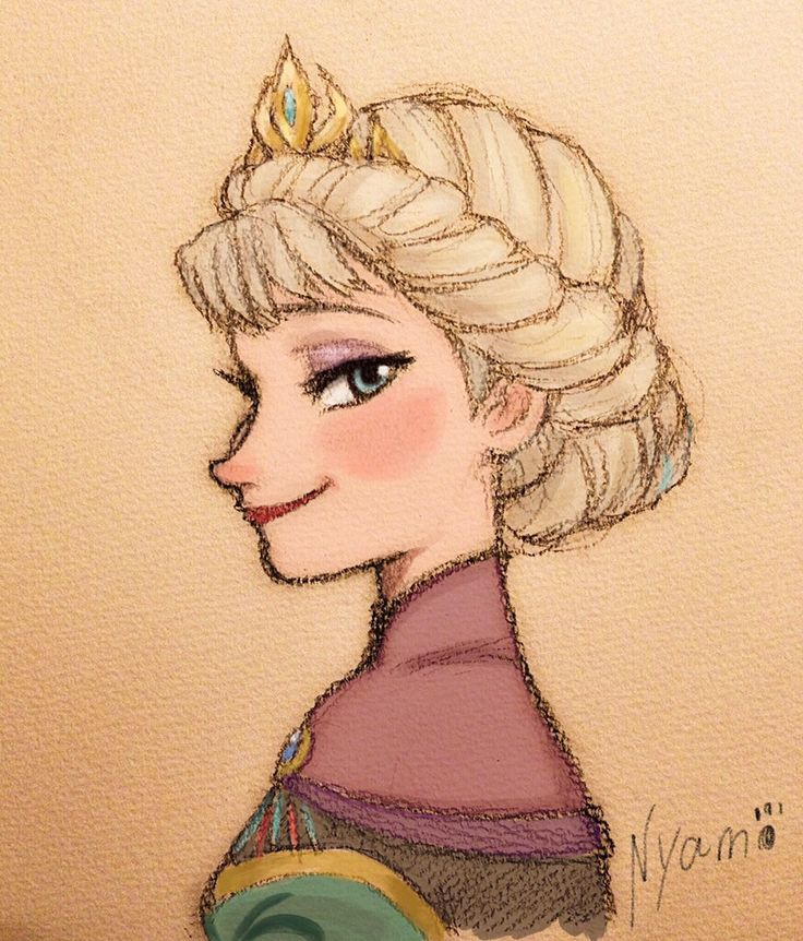 A very nice drawing of Elsa