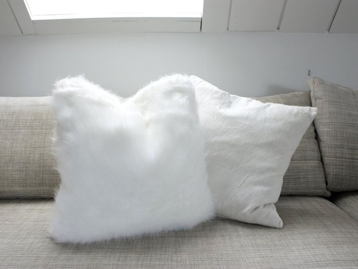 Arctic Faux Fur Cushion NZ $35, a functional addition to any room.