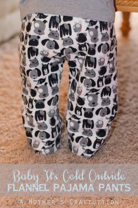 Flannel pajama pants, sewing tutorial, kids clothing, diy