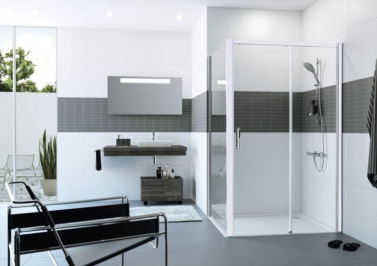 Bílé sprchové rámy