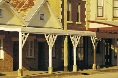 The historic township of Clunes, Goldfields Victoria, Australia, where the first gold strike was registered