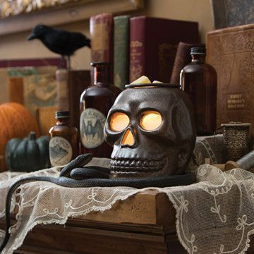Spooky Skull Electric Tart Warmer-Wax Melter-Oil burner