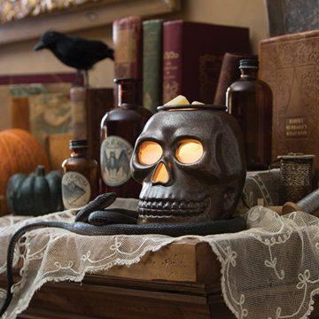 Spooky Skull Electric Tart Warmer-Wax Melter-Oil burner