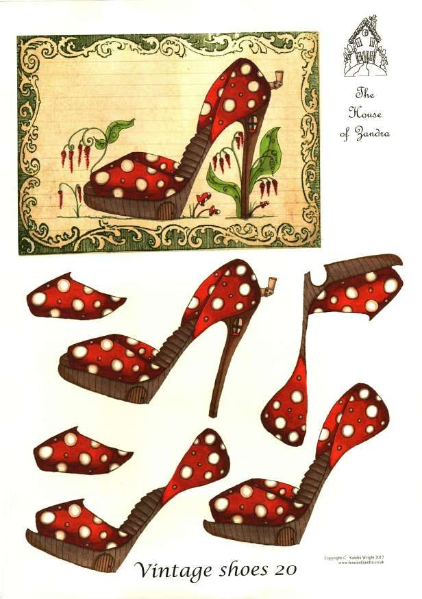 The House of Zandra decoupage - Vintage Shoes 20