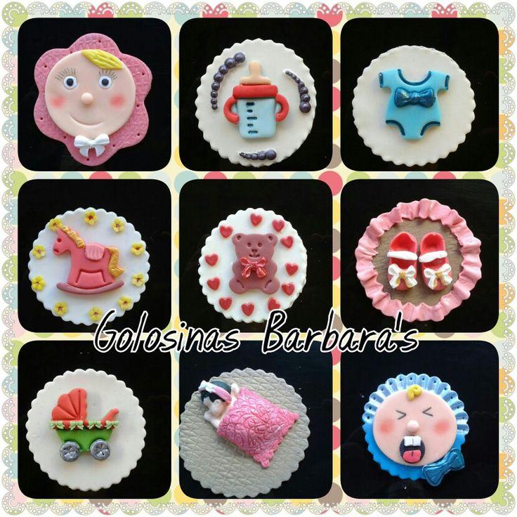 Cupcakes para bautizos y babyshowers