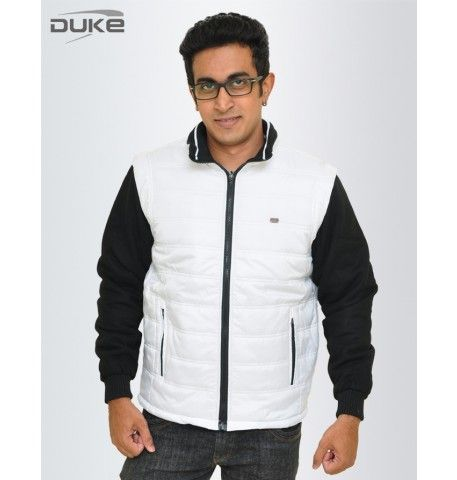 Duke Men Winter Cool White Jacket