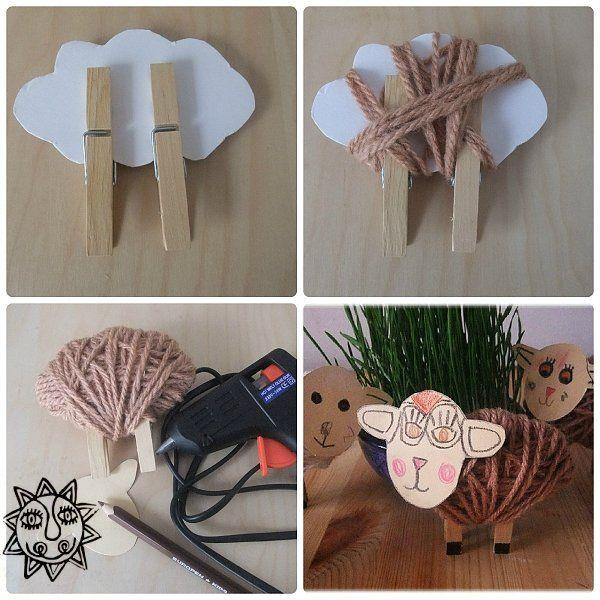 Velikonoční beránci a ovečky - zvířátka na kolíčku - Průvodce pro ty, kdo tvoří s dětmi