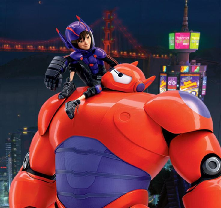 Hiro and Baymax Hiro how about when I get home I can add some wings and busters to our super suits so Baymax will not have to fly us every time