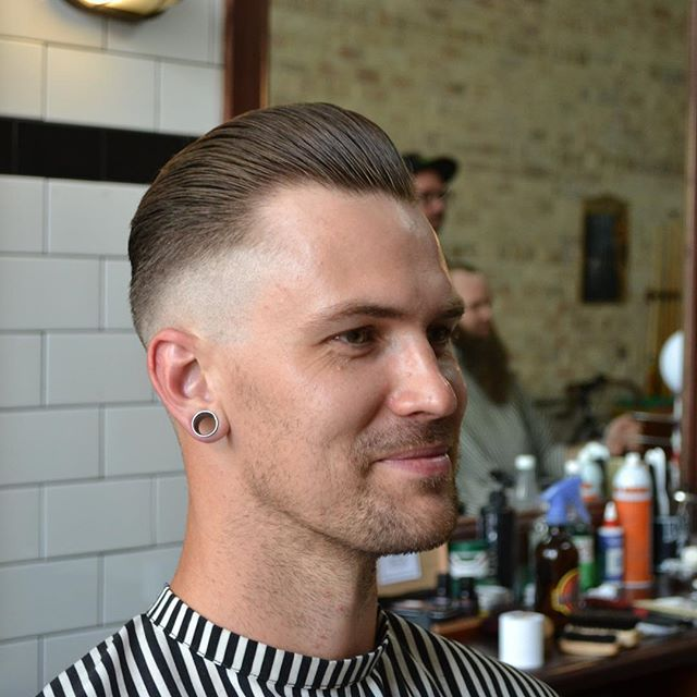 The #summer is here for sure and it's time to chop it up. A cut out of @alibiroom in #newcastle #newsouthwales A crisp #faded #pomp #haircut by @scissor__slinger Such a clean taper and styling. A great pomade will help refine your style. A great barber will help tailor your style with a professional eye. Choose both wisely. #mrpomade #mensstyle #menshair #professional #style