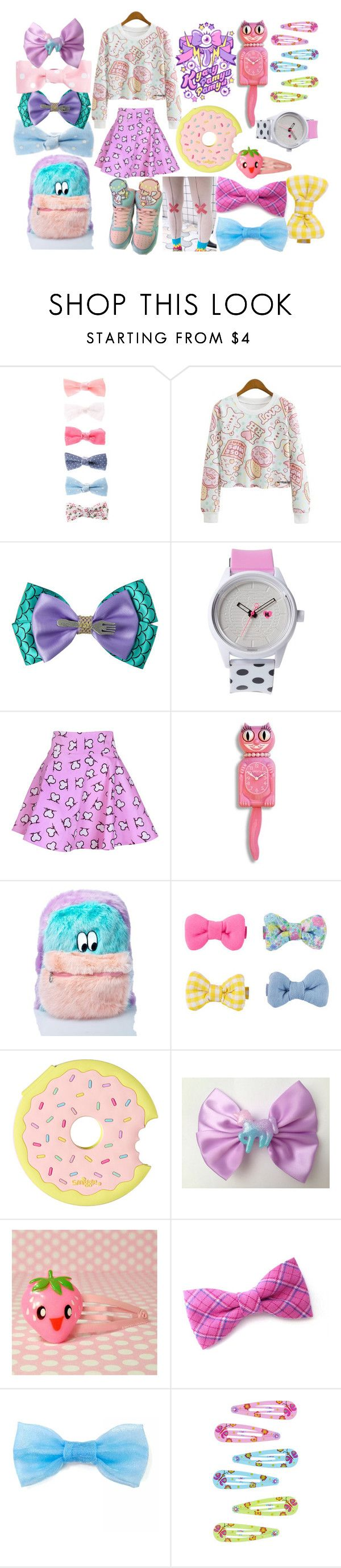 """Harajuku Decora"" by drhumanguy ❤ liked on Polyvore featuring Disney, Harajuku Lovers, Jeremy Scott, Lazy Oaf, cute, japanese, harajuku and decora"