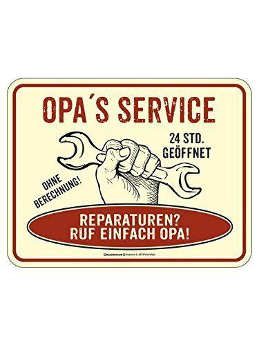 Blechschild Opas Reparaturservice beige rot schwarz 17x22cm, http://www.amazon.de/dp/B01BY6YMX4/ref=cm_sw_r_pi_awdl_W7rkxb0M0XTTZ