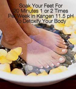 Rendam kaki pH 11.5 www.KangenWaterID.info