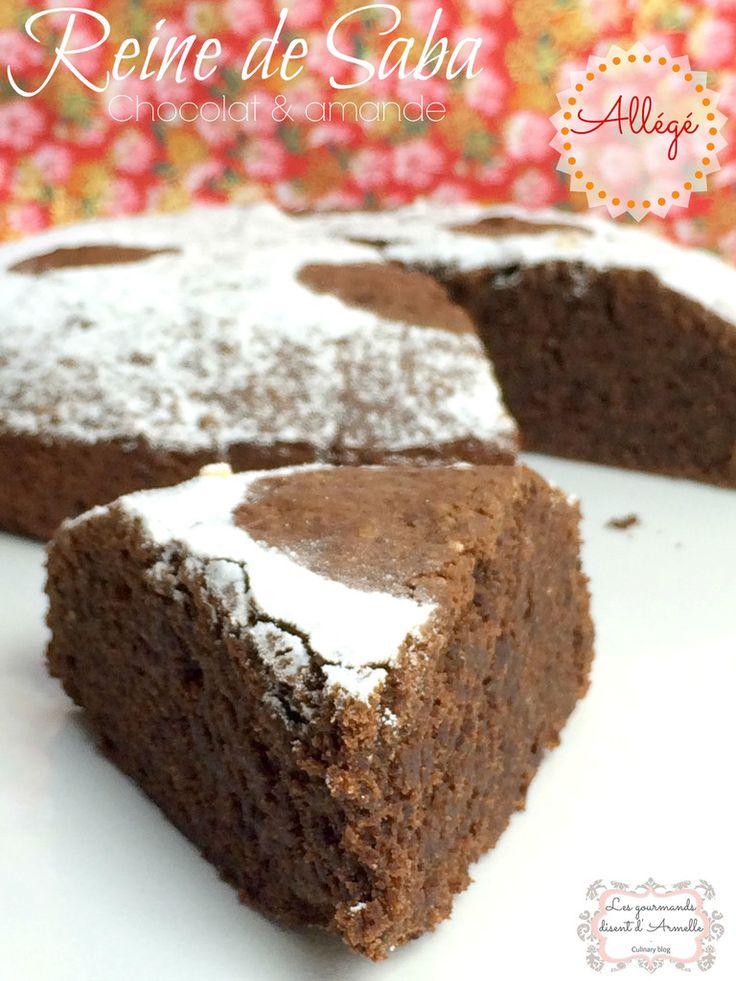 Reine de Saba: Gâteau au chocolat & amande, allégé et sans gluten