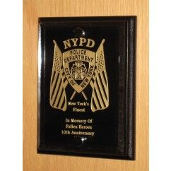 NYPD Plaque - Crystaleire