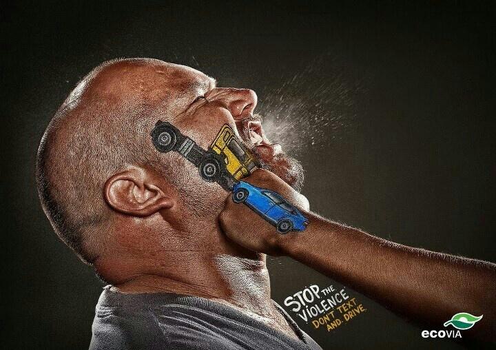 #Creativa #campaña para prevenir los accidentes de tránsito.  #publicidad