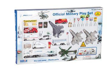 Boeing Official Military Die Cast 35-Piece Airport Play Set