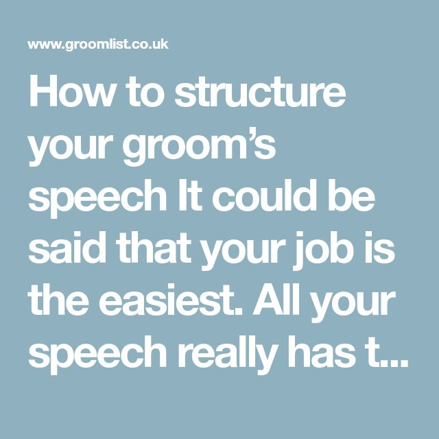 The  Best Groom Speech Template Ideas On   Photo