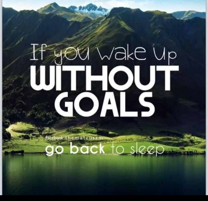 Top 100 Motivational Images For 2015: If You Wake Up Without Goals ... Go Back To Sleep