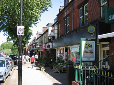 Ecclesall Road. The best road in Sheffield and my student hunting ground. (As in I went lots when I was a student - I don't hunt students).
